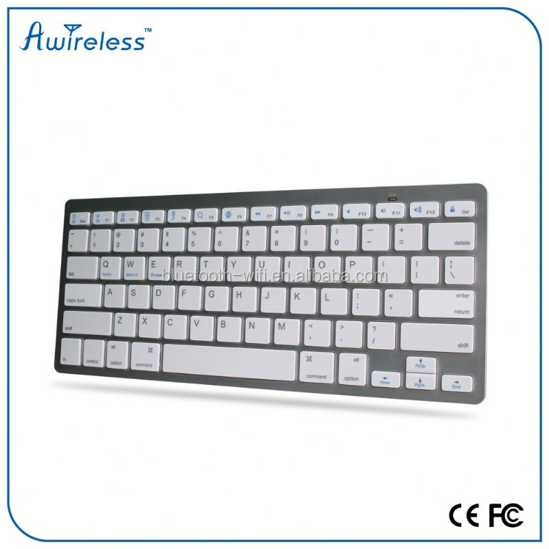 Full Size QWERTY Stainless Steel Bluetooth 3.0 Keyboard For iPad Pro 12.9 inch Wireless Keyboard For Apple iPad Pro