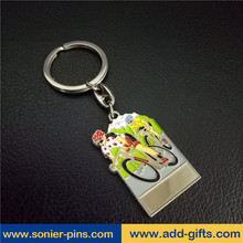Sonier-pins souvenir high quality keychain bicycle sports keyrings