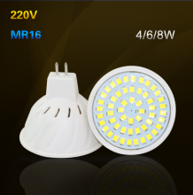 MR16 4W 6W 8W LED Bulb Lamp with 36Leds 54Leds 72Leds for home