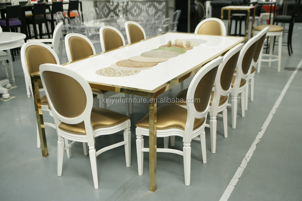 2016 new design wedding party furniture chair and tables sets XYN4208