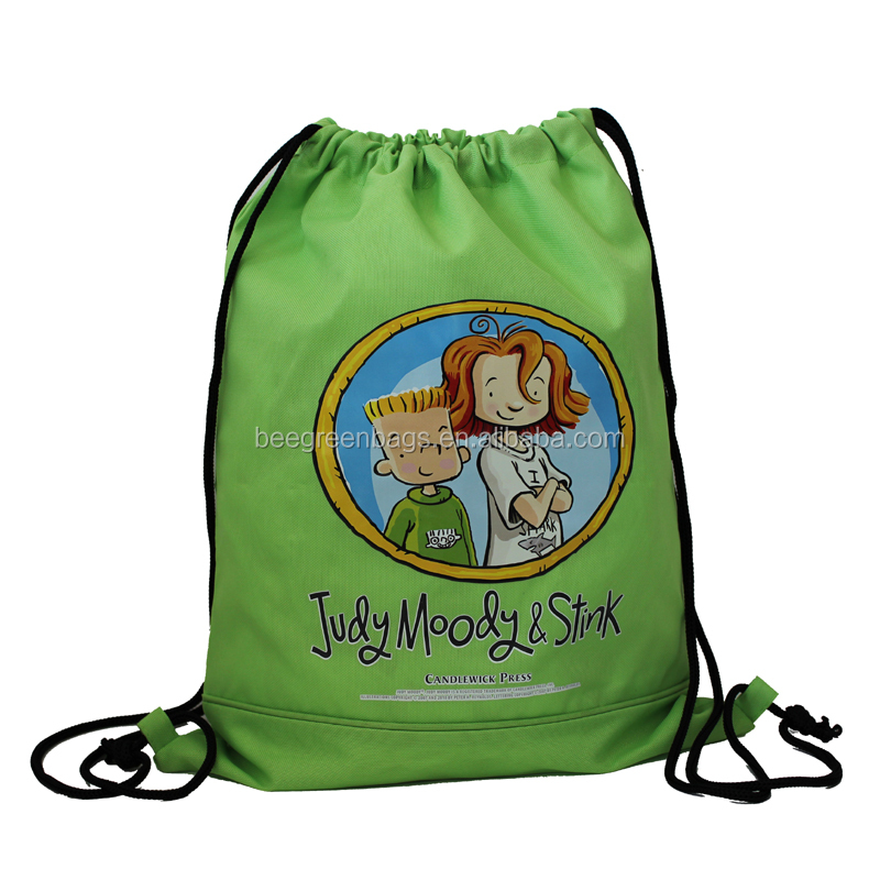 BeeGreen Promo 600D Polyester Drawstring Backpack