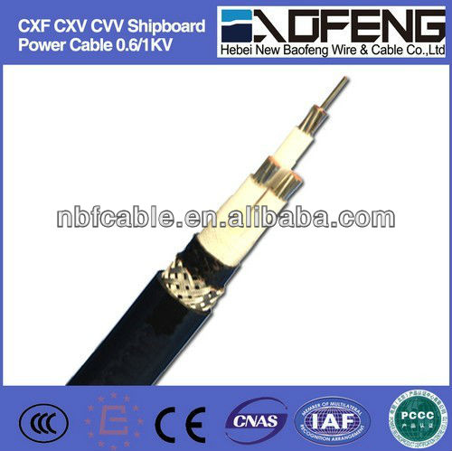 0.6/1kv CXF CXV CVV Shipboard Power Cable