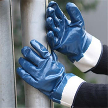 Brand MHR 13G knitted polyester liner Coated Nitrile on palm for safety Working Gloves
