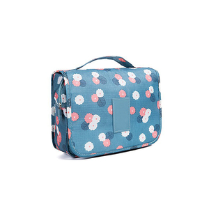 Floral Toiletry Bag Multifunction Cosmetic Bag ODM Makeup Brush Pouch Holder