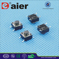 6X6XH H=4.3-2.1mm SMD Push Button Tact Switch; Tactile Switch