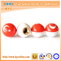 Turkey Flag Car Tire Valve Cap Customized Logo, Package Or Ball Colors Available