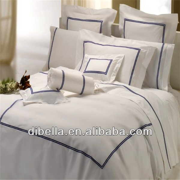 Sateen cotton combed bedding for home and hotel sets of 4p c 5pc 6pc