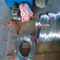 Q195 Low Carbon galvanized steel iron Wire with zinc coating 100-360g/m2 Tensile strength 430--550 mpa