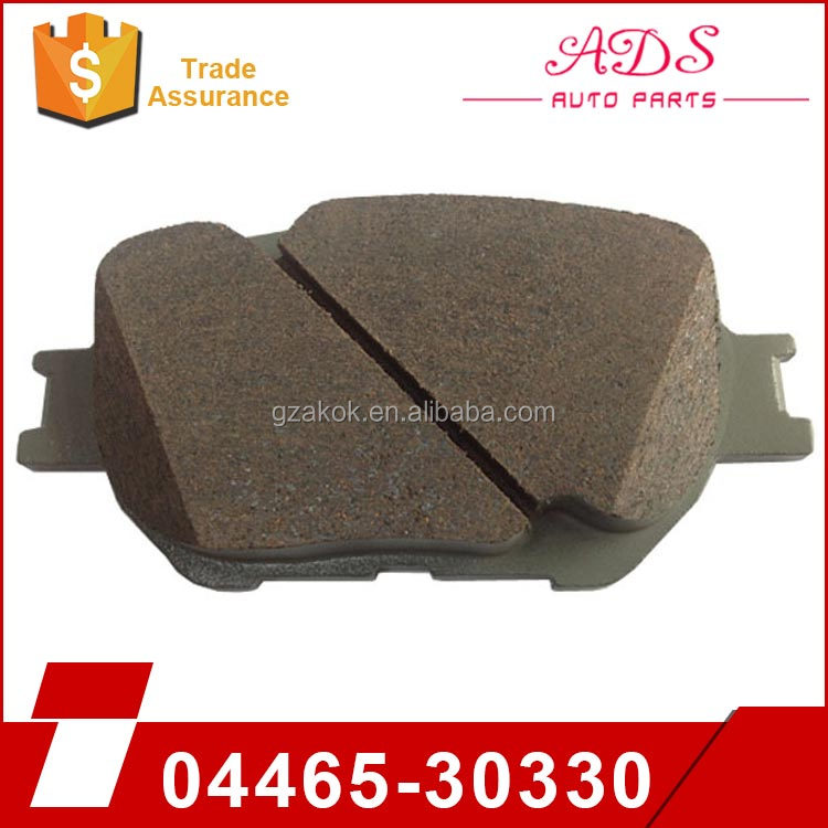 Professional tech !! Front sintered back plate disc brake pads for sale for CROWN / REIZ 04465-30330