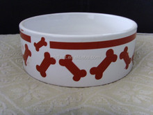 ceramic pet food bowl