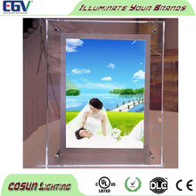 Acrylic Light Box Wall-mounted Crystal Light Sign Portable LED Display picture frame led light box