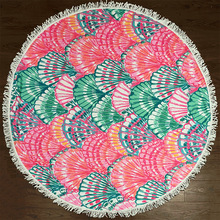 New Design China Factory Printed Microfiber Round Beach Towel