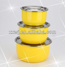 Elegant round 6pcs stainless steel food container with lid