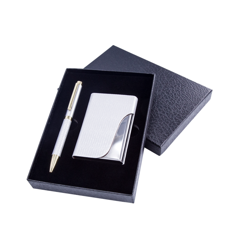 2018 Custom Promotional Gift Metal Business Card Holder With Pen