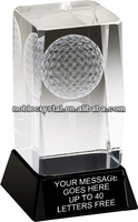Noble New Design Crystal Optical Ball And Tee Golf Awards
