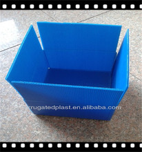Folding corrugated plastic cardboard boxes