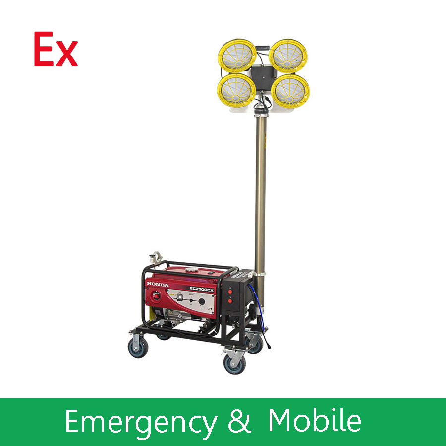 UL844 Atex IECEX Portable Explosion Proof LED Job Site Lighting for Hazardous Areas C1D2 - Multi Power