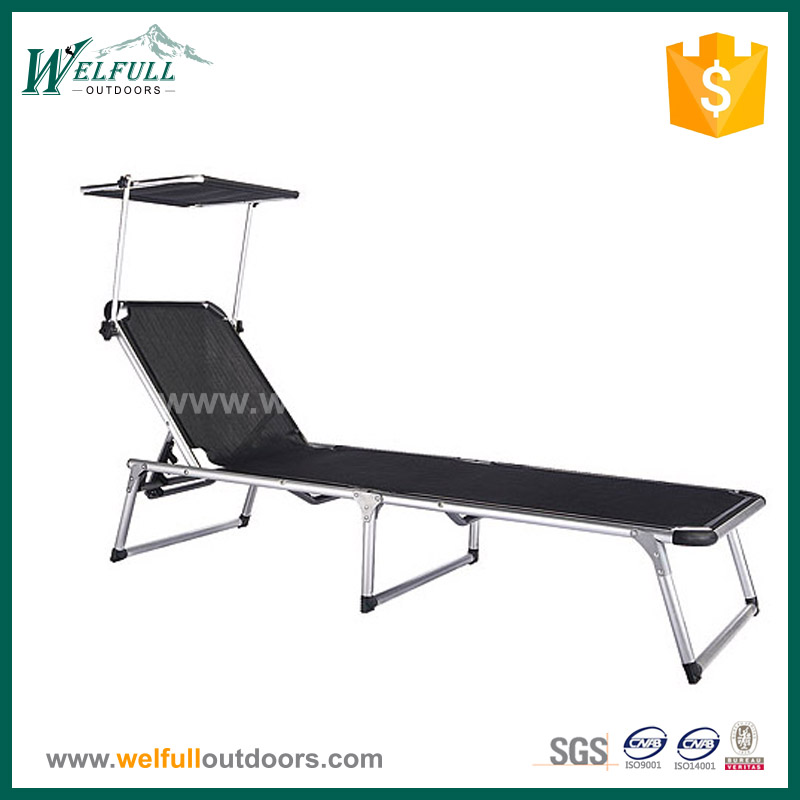 Wholesale Adjustable Outdoor Sun Lounge with Canopy