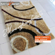 Latex Backing Microfiber Shaggy Washable Rug