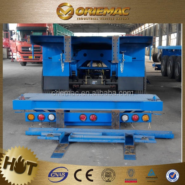 3 axle40 feet flatbed trailer,container trailer chassis