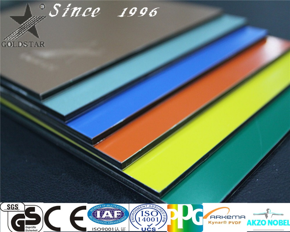 Foshan building material construction materials price list Aluminum composite panel
