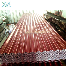Red color coated Cold Rolled Cheap Hot Dipped Roofing Galvanized Corrugated Steel Sheet