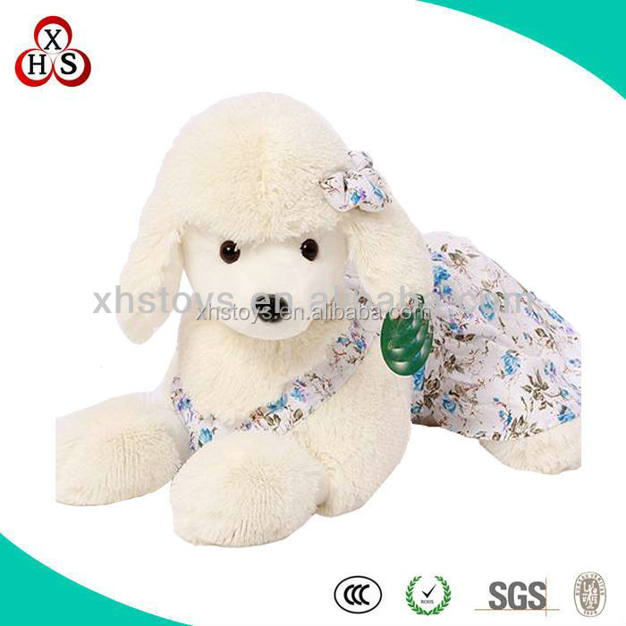 Funny Kids Gift Stuffed Plush Soft Singing Christmas Dog Toys For Promotion