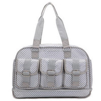 new design foldable quilted shoulder baby diaper bag