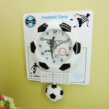 creative fashionable passion world cup plastic football pendulum sport wall clock for gifts