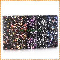 fashion Starry sky start graffiti Painted flip wallet stand Card slot case for ipad air 2