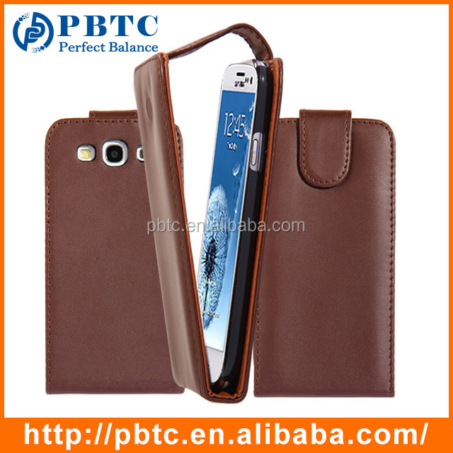 Set Screen Protector Stylus And Case For Samsung I9300 , Brown Leather Case For Galaxy S3