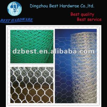 Galvanized Hexagonal chicken wire mesh for cage fence