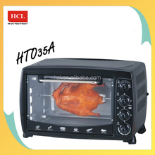 1800W easy clean electric toaster oven with 250C