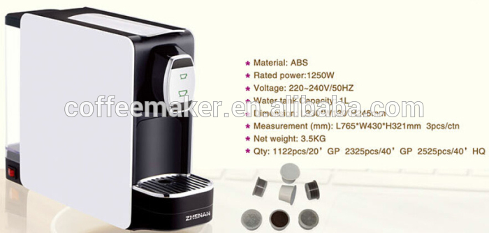 ABS Material and LFGB,CE Certification Coffee Machine