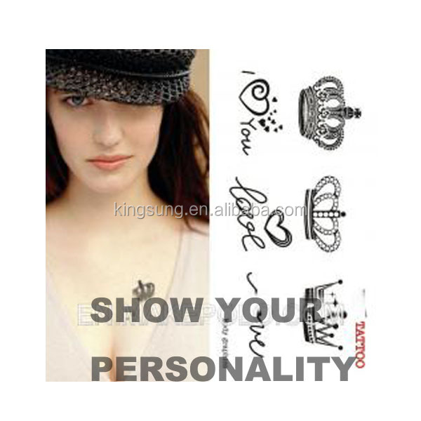 Temporary Feature and Tattoo Sticker Type customised temporary tattoo