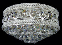 gold/silver color big round shape modern crystal chandelier light for hotel lobby/villa/hall
