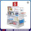 TSD-W860 Custom 4 way slatwall shop fitting and store fixtures,grocery store display racks,department store furniture