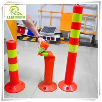 Plastic traffic safety road racing cone connecting pole