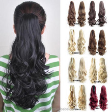 22 inch Claw Pony tail Ponytail Clip In On Hair Extension Wavy Curly Style