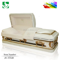 JS-ST648 steel casket funeral supplier