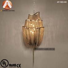 Atlantis Suspension Light/ Chain Chandelier Lighting In Gold Finish