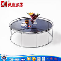 2015 promotion cheap glass tea table with glass top