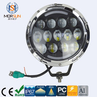 "New product off road high power round 7"" led headlight high/low for Motorcycle with factory Price"