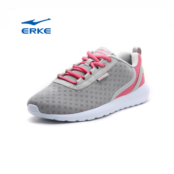 2017 summer breathable mesh ERKE brand wholesale casual sports shoes for womens