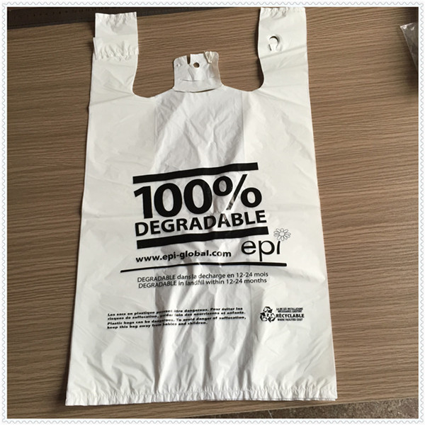 polyethylene clear supermarket t-shirts plastic packaging bag