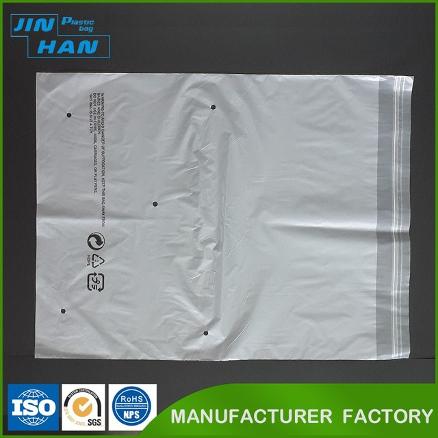 Biodegradable Plastic PE Package Polybag Custom Resealable Transparent Plastic Bags