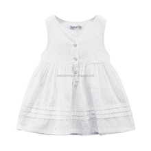 Fashion design small girl dress cotton baby girls sleeveless casual dresses