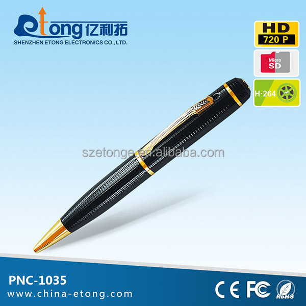 Easy to bring 720p mini dvr pen cctv camera Supports up to 32 GB micro sd card