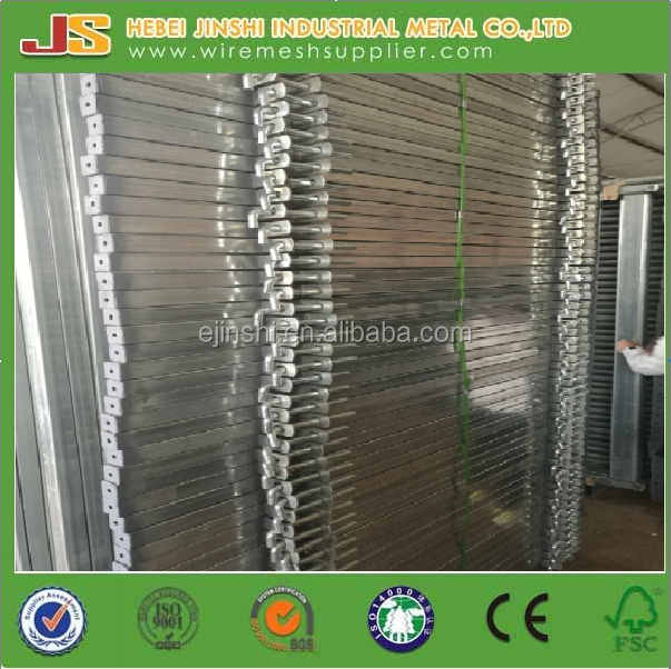 Galvanized pasture heavy duty metal fence panel/ oval tube fence panel