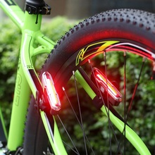 2017 USB Rechargeable Bike Bicycle Light Rear Back Safety Colorful light